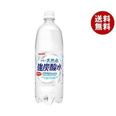 サンガリア 伊賀の天然水 強炭酸水 1LPET*12本入