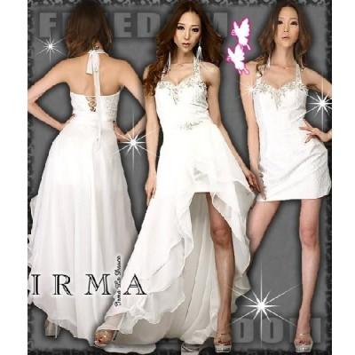 ドレス IRMA ドレス INレース重ねSKハイ&トレーンドレス アゲハドレス【小悪魔agehaドレス】パーティードレス キャバ ドレス