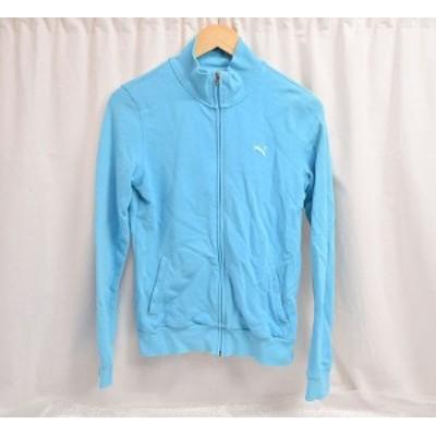 【中古品】PUMA/プーマ レディース ジップアップ ジャケット USサイズS ライトブルー 身幅約45cm×着丈約59cm