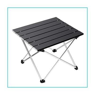 Ledeak ポータブルキャンピングテーブル 小型超軽量折りたたみテーブル アルミテーブルトップとキャリ