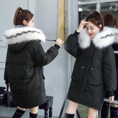 中棉コート レディースアウター 中綿ジャケット 秋冬 中綿コート 中綿ジャケット ダウン風コート フード付き 厚手 暖かい 大きいサイズ スリム