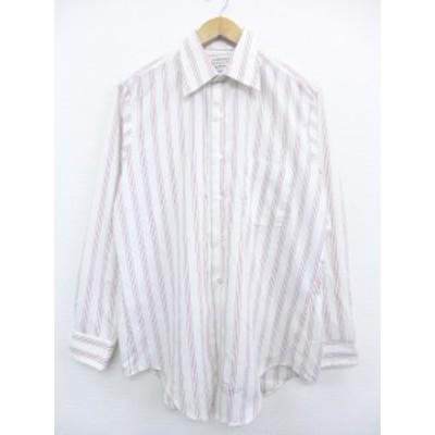 古着 長袖 シャツ 80年代 アロー ユニオンメイド USA製 白 ホワイト ストライプ XLサイズ 中古 メンズ トップス シャツ トップス 古着