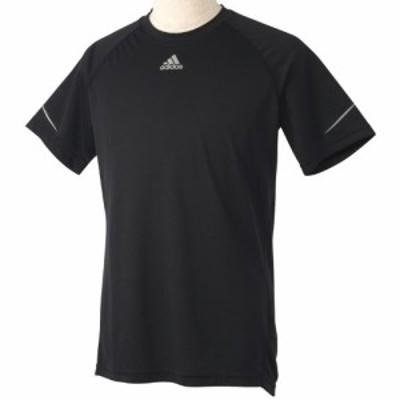 (アディダス)adidas M SQ CCRUN 半袖Tシャツ WJ143 D80172 ブラック J/O