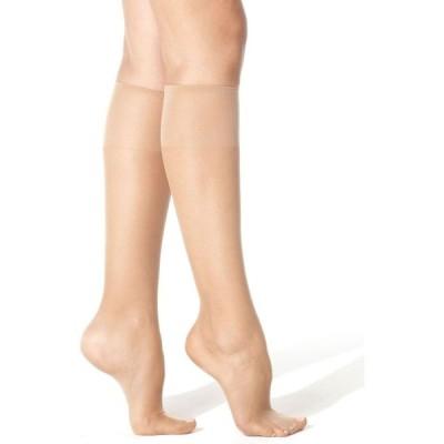 ヘインズ Hanes レディース タイツ・ストッキング インナー・下着 Silk Reflections Knee Highs Silky Sheers 775 Travel Buff
