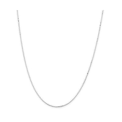 ネックレスRyan Jonathan Fine Jewelry Sterling Silver 1.15mm Square Beaded Chain