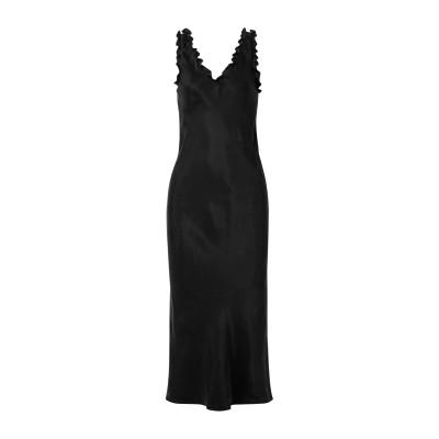 ティビ TIBI 7分丈ワンピース・ドレス ブラック 8 キュプラ 100% 7分丈ワンピース・ドレス