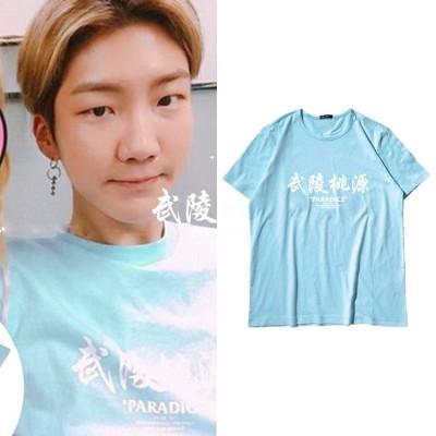 234大人気!WINNER週辺 Seung Hoon同じデザイン 半袖Tシャツ 韓国ファッション tシャツ  男女兼用  トップス 韓国
