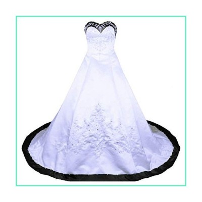 RohmBridal Sweetheart A-line Wedding Dress Bridal Gown White Black Size 12並行輸入品