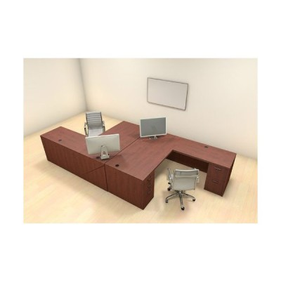 Two Persons Modern Executive Office Workstation Desk Set, CH-AMB-F1 並行輸入品
