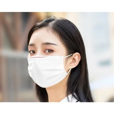 マスク 50枚 不織布マスク 在庫あり 箱入り 3層構造 高密度フィルター素材  ふつうサイズ 男女兼用 大人 ホワイト 防塵 ばい菌 花粉症対策 防護マスク