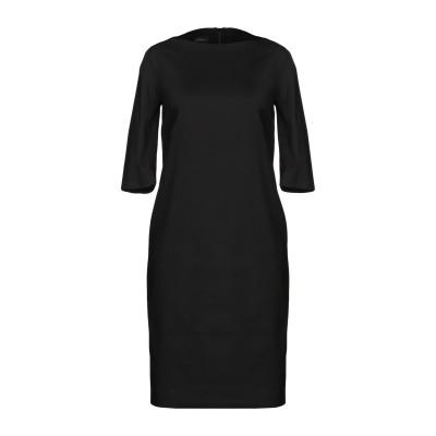 レ コパン LES COPAINS ミニワンピース&ドレス ブラック 40 コットン 63% / ナイロン 31% / ポリウレタン 6% ミニワン