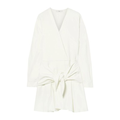 ティビ TIBI ミニワンピース&ドレス ホワイト 4 ポリエステル 98% / ポリウレタン 2% ミニワンピース&ドレス