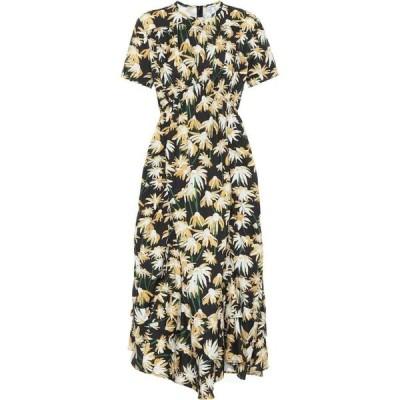 ロエベ Loewe レディース ワンピース ワンピース・ドレス floral cotton dress Black/Yellow