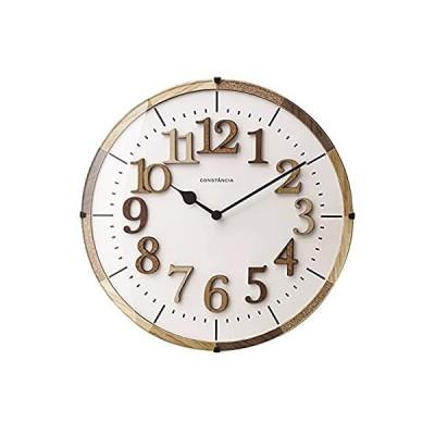 INTERFORM INC. インターフォルム 電波掛け時計 ナチュラル 見やすい シンプル 北欧 ウッド ウォールクロック Tielティール CL-