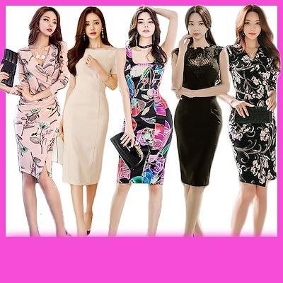 韓国ファッション 韓国スタイル オルチャン ワンピース ドレス 花柄 レース きれいめ セクシー