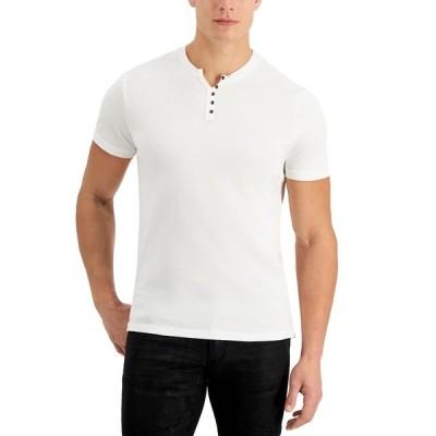 アイエヌシーインターナショナルコンセプト Tシャツ トップス メンズ INC Men's Brynn T-Shirt, Created for Macy's White Pure