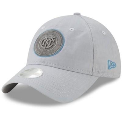 レディース スポーツリーグ サッカー New York City FC New Era Women's Linen 9TWENTY Adjustable Hat - Gray - OSFA 帽子