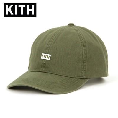 キス キャップ メンズ 正規品 KITH 帽子  帽子 KITH BL TWILL DAD CAP HAT KH5190-106 OLIVE