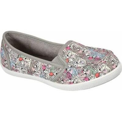 スケッチャーズ レディース スニーカー シューズ Women's Skechers BOBS B Cute Love Shuffle Slip On Sneaker Taupe/Multi