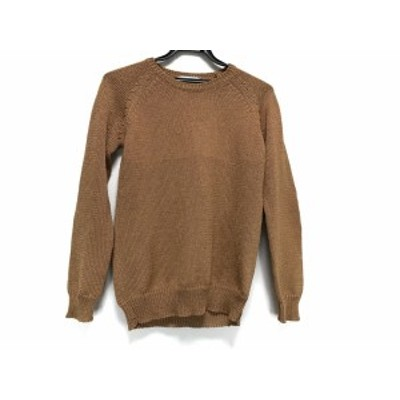 ベイジ BEIGE 長袖セーター サイズS レディース ブラウン×マルチ 肘当て豹柄【中古】20201107