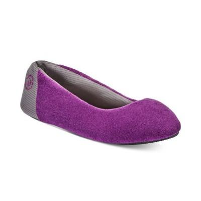 アイソトナー レディース サンダル シューズ Women's Microterry Mesh Ballet Slippers