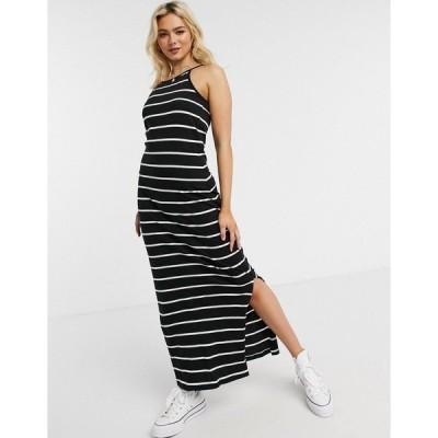 オンリー レディース ワンピース トップス Only May sleeveless maxi dress in black stripe Black