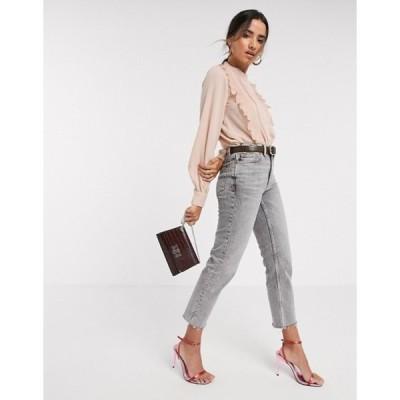 ヴェロモーダ レディース シャツ トップス Vero Moda blouse with pleat front in pink