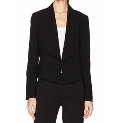 Nine West ナインウエスト ファッション 衣類 Nine West NEW Black Womens Size 10 Shawl Collar Crepe Open Front Jacket