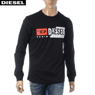 ディーゼル DIESEL クルーネックTシャツ メンズ 長袖 T-DIEGO-LS-CUTY A00351-0091A ブラック 2020秋冬新作