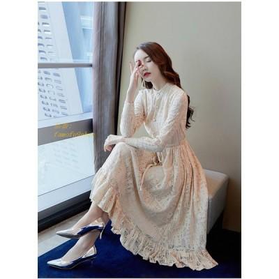 パーティードレス ドレス 結婚式 ドレスワンピース 春 ワンピース お呼ばれドレス ロングワンピース レースワンピース Aライン レディース 通勤 フォーマル