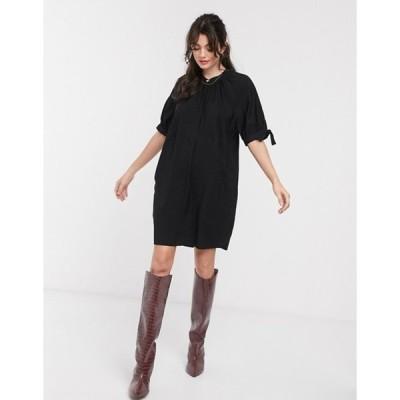 ホイッスルズ レディース ワンピース トップス Whistles celestine mini dress in black