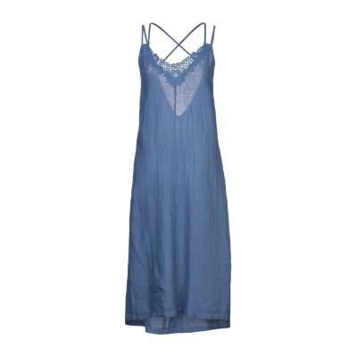 LFDL 7分丈ワンピース・ドレス ブルーグレー S リネン 100% 7分丈ワンピース・ドレス