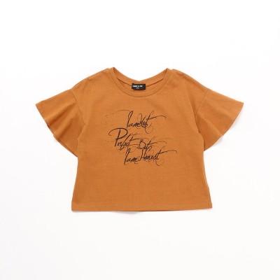 コムサイズム COMME CA ISM フレアースリーブ Tシャツ (オレンジ)