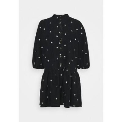 ヤス レディース ワンピース トップス YASCALIA MIDI DRESS - Day dress - black black
