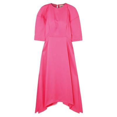KHAITE 7分丈ワンピース・ドレス フューシャ 4 アセテート 83% / レーヨン 17% 7分丈ワンピース・ドレス