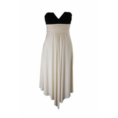 Sans  ファッション ドレス Laundry par Shelli Segal Noir Ivoire Bandeau sans Bretelles Dress 0