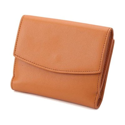 [レガーレ] 三つ折り財布 チリトリ型小銭入れ レディース コインケース チリトリ 財布 本革 (キャメル)