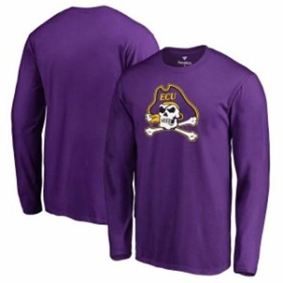 Fanatics Branded ファナティクス ブランド スポーツ用品  Fanatics Branded East Carolina Pirates Purple Primary Team Logo Long Slee