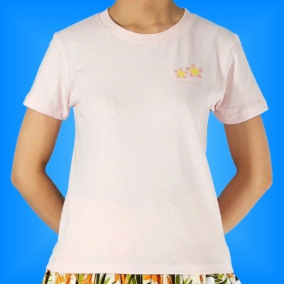 フラダンス Tシャツ M プルメリア ピンク 542mp