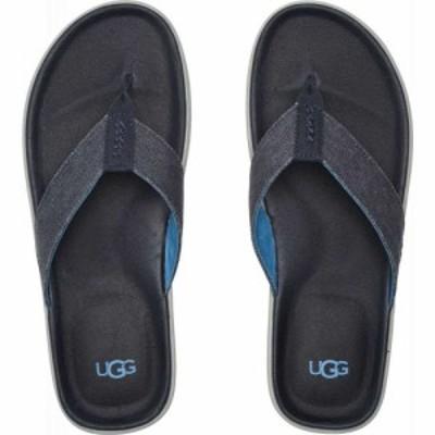 アグ UGG メンズ ビーチサンダル シューズ・靴 Brookside Flip Canvas Dark Sapphire