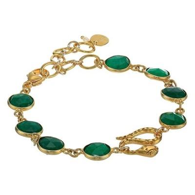 customerAuth Indian Adventurine with Serpent Adjustable Bracelet レディース ブレスレット Indian Adventurine