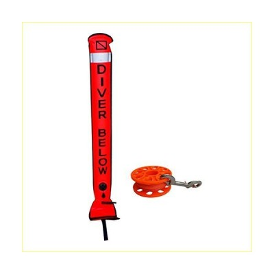 lahomia Scuba Diving Diver Below Safety SMB Surface Marker and Reel of【並行輸入品】