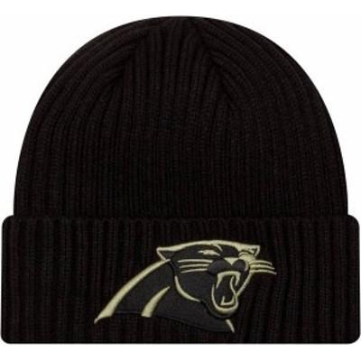 ニューエラ メンズ 帽子 アクセサリー New Era Men's Salute to Service Carolina Panthers Black Knit