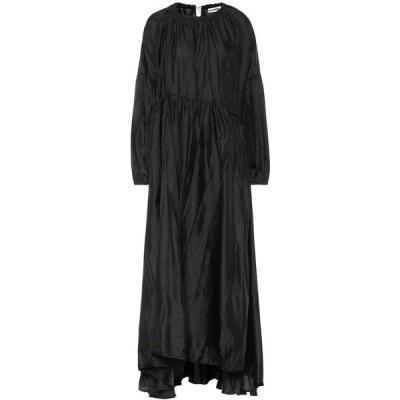 ジル サンダー Jil Sander レディース パーティードレス マキシ丈 ワンピース・ドレス Twill maxi dress Black