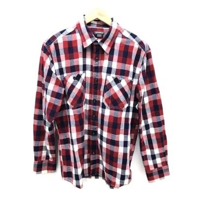 エディーバウアー Eddie Bauer ブロックチェックポケットシャツ メンズ S 中古 古着 210914