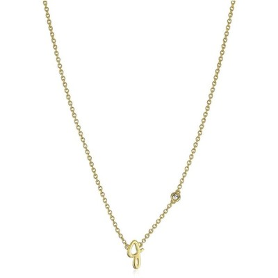 "Syd by SE ""J"" Initial Necklace with Diamond Bezel"