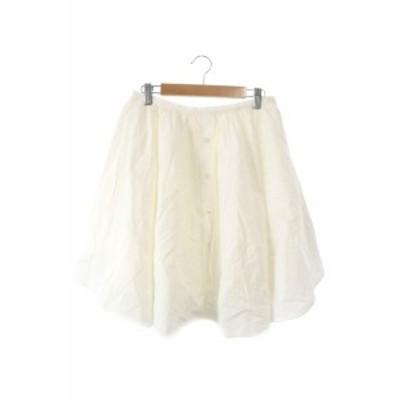 【中古】マイダルタニアン my D'artagnan Shinzone Brand スカート ギャザー ひざ丈 38 白 ホワイト /MK レディース