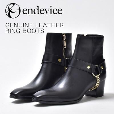 リングブーツ メンズ 靴 革靴 本革 ヒールブーツ ブランド endevice エンデヴァイス おしゃれ