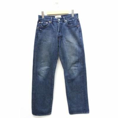 【中古】ヤエカ YAECA デニム ジーンズ パンツ ストレート 4-12U 30 青 ブルー /Z メンズ