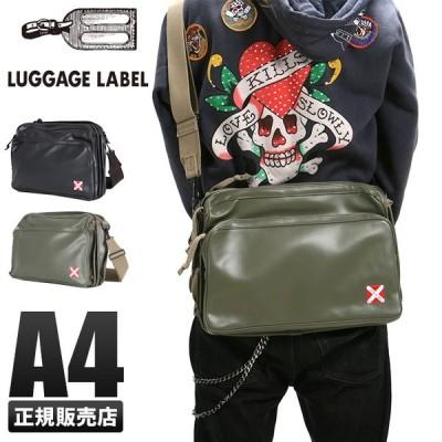 吉田カバン ラゲッジレーベル ライナー ショルダーバッグ メンズ レディース 赤バッテン A4 LUGGAGE LABEL 951-09239